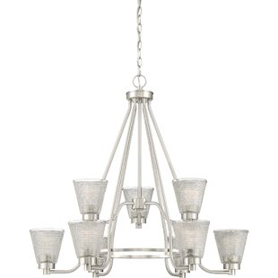 Haskett 9-Light Shaded Chandelier by Highland Dunes