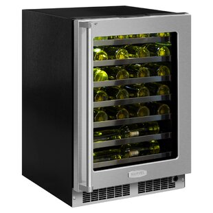 48 Bottle Professional Single Zone Built-In Wine Cooler With Hinge Pin by Marvel Great price