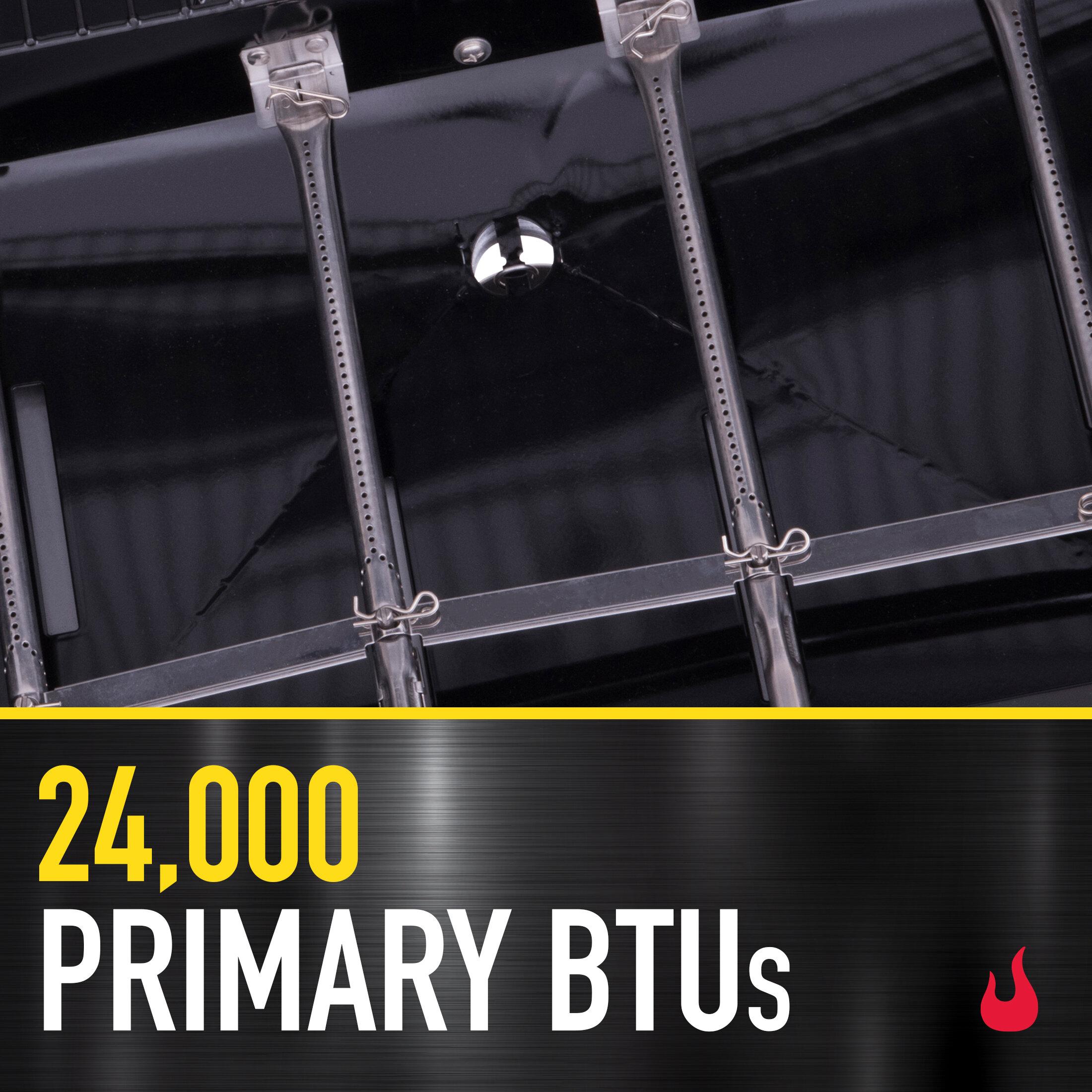 3 Burners with 24,000 BTUs