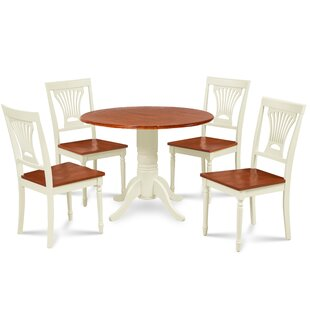 Forthill 5 Piece Solid Wood Dining Set by Alcott Hill Great Reviews