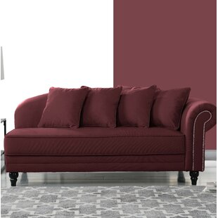 Andover Mills Coral Velvet Upholstered Chaise Lounge