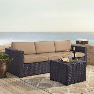 Dinah 3 Piece Sofa Set with Cushions