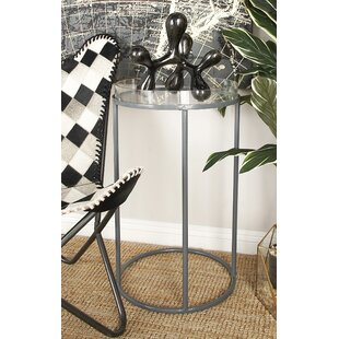 Cole & Grey Metal and Acrylic Tray Table