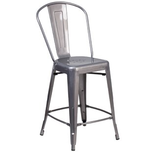 Roberto Clear Coated 24.5 Bar Stool Williston Forge