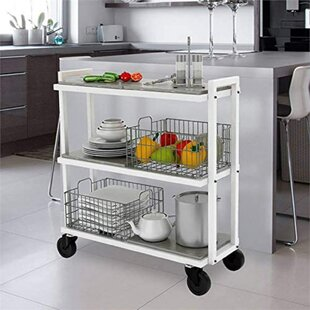Ashya Mobile Kitchen Cart by Latitude Run