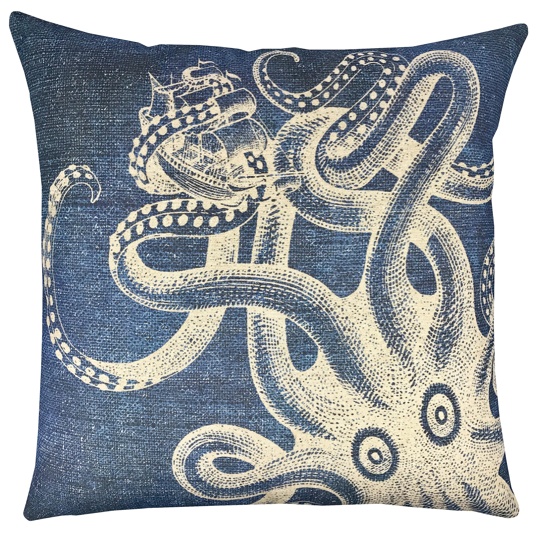 Breakwater Bay Winthrop Kraken Shibori Throw Pillow Wayfair