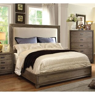 Union Rustic Munson Upholstered Panel Bed