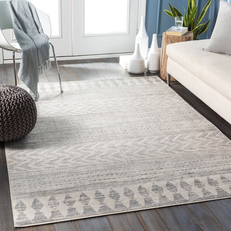 Union Rustic Warlick Gray Taupe Area Rug Reviews Wayfair