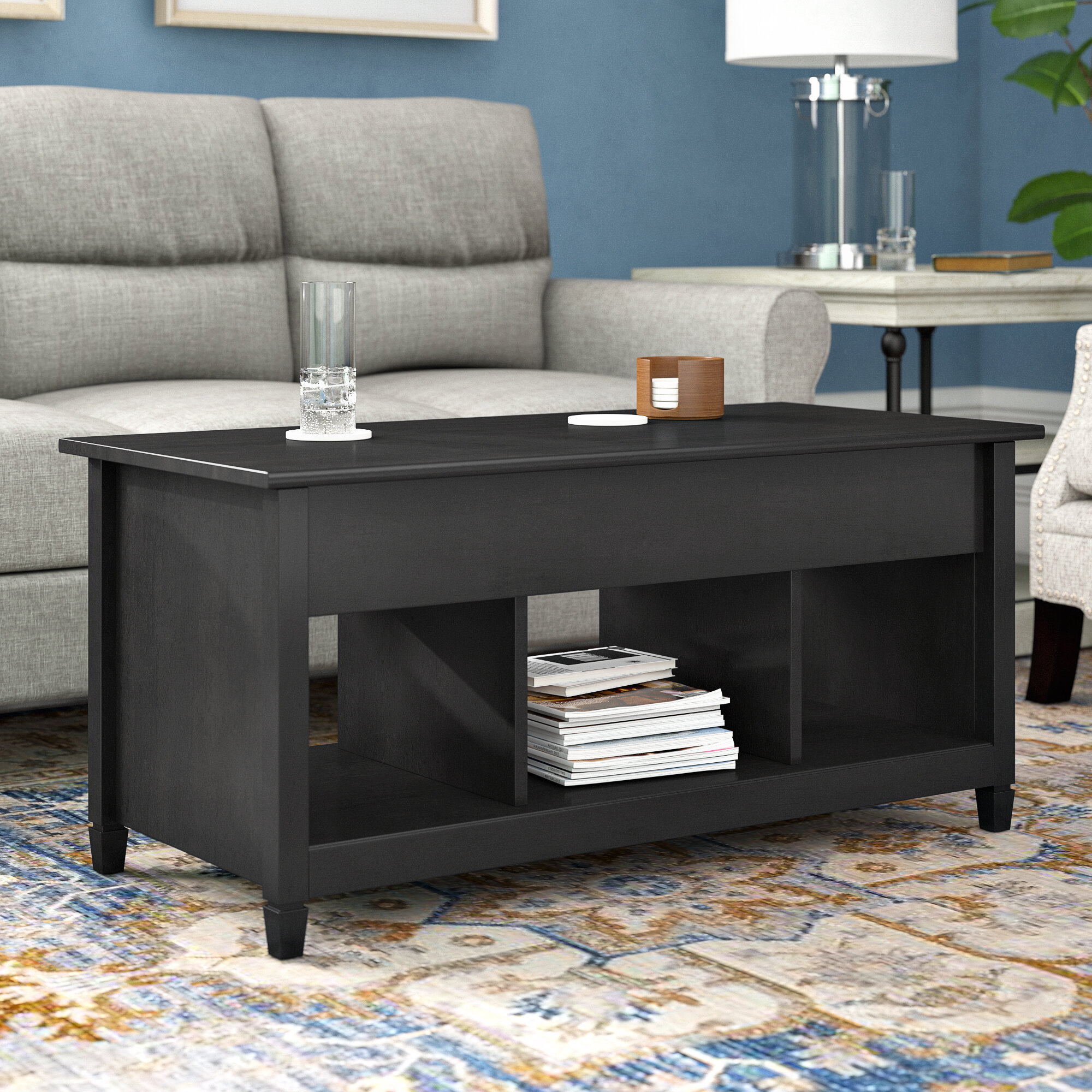 Three Posts Lamantia Lift Top Coffee Table With Storage Reviews Wayfair