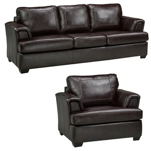 Verano Leather 2 Piece Living Room Set by Loon Peak