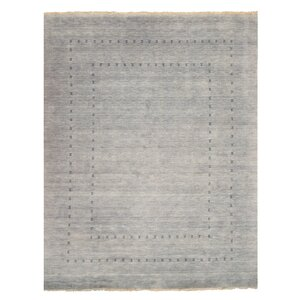 Thana Hand-Knotted Gray Area Rug
