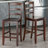 Nev Solid Wood Bar & Counter Stool (Set of 2) by Red Barrel Studio®