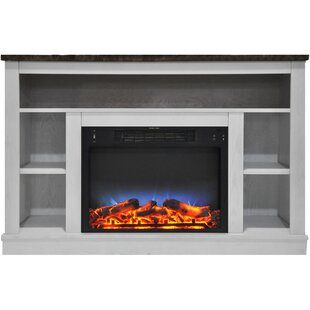 Eudora TV Stand for TVs up to 50 with Fireplace by Charlton Home