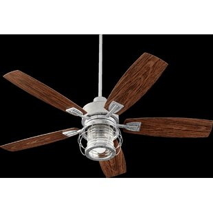Inexpensive 52 Glazer 5-Blade Ceiling Fan By Breakwater Bay
