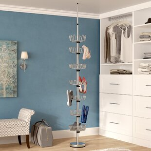 Check Prices Floor to Ceiling 7-Tier Shoe Rack By Rebrilliant