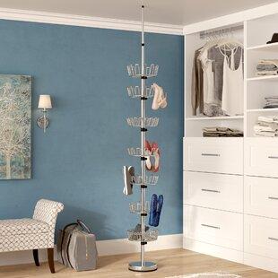 Great Price Floor to Ceiling 7-Tier Shoe Rack By Rebrilliant