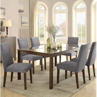 Belvedere 7 Piece Dining Set Latitude Run