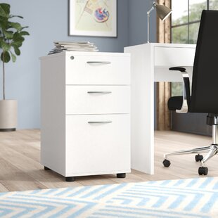 Derry 3-Drawer Lockable Filing Cabinet By Mercury Row