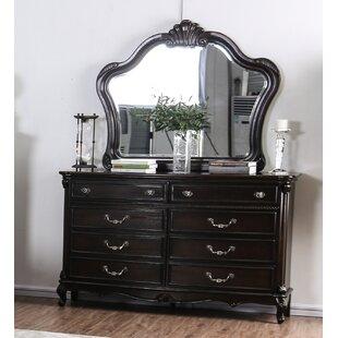 Gottlieb 10 Drawer Double Dresser with Mirror