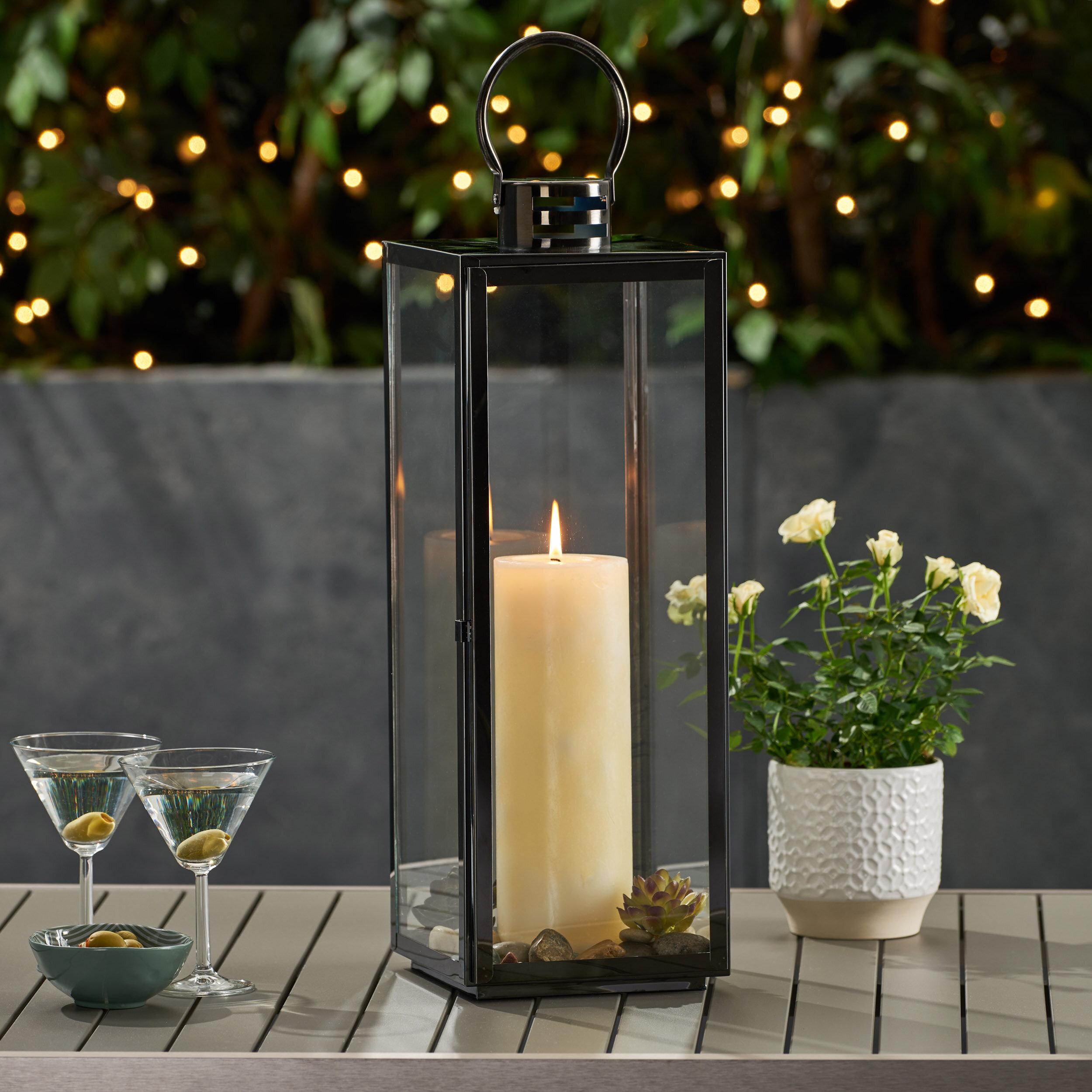 Brayden Studio Ashley Modern Stainless Steel Outdoor Lantern Reviews Wayfair