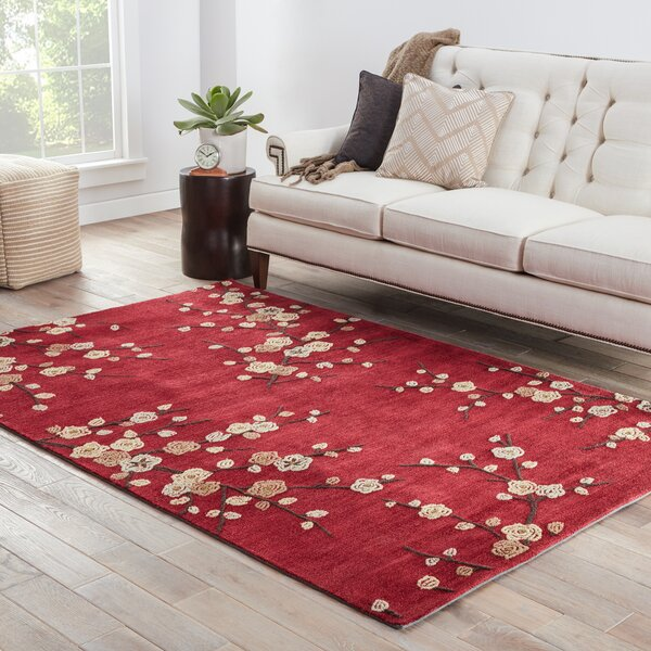 Exceptional Cherry Blossom Area Rug Part - 7: Red Barrel Studio Anselmo Cherry Blossom Red Area Rug U0026 Reviews | Wayfair