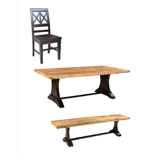 Bonniview 6 Piece Solid Wood Dining Set Loon Peak