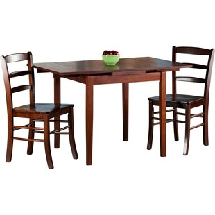 Shaws 3 Piece Extendable Dining Set by Alcott Hill Sale
