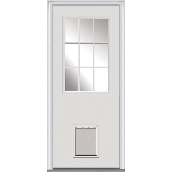 1 Lite Fibreglass Smooth 2 Panel Primed Prehung Front Entry Door