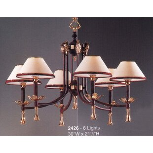 Classic Lighting Marbella 6-Light Shaded Chandelier