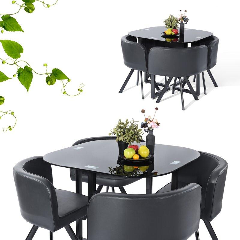 Ebern Designs Lamons 5 Piece Dining Set Reviews Wayfair