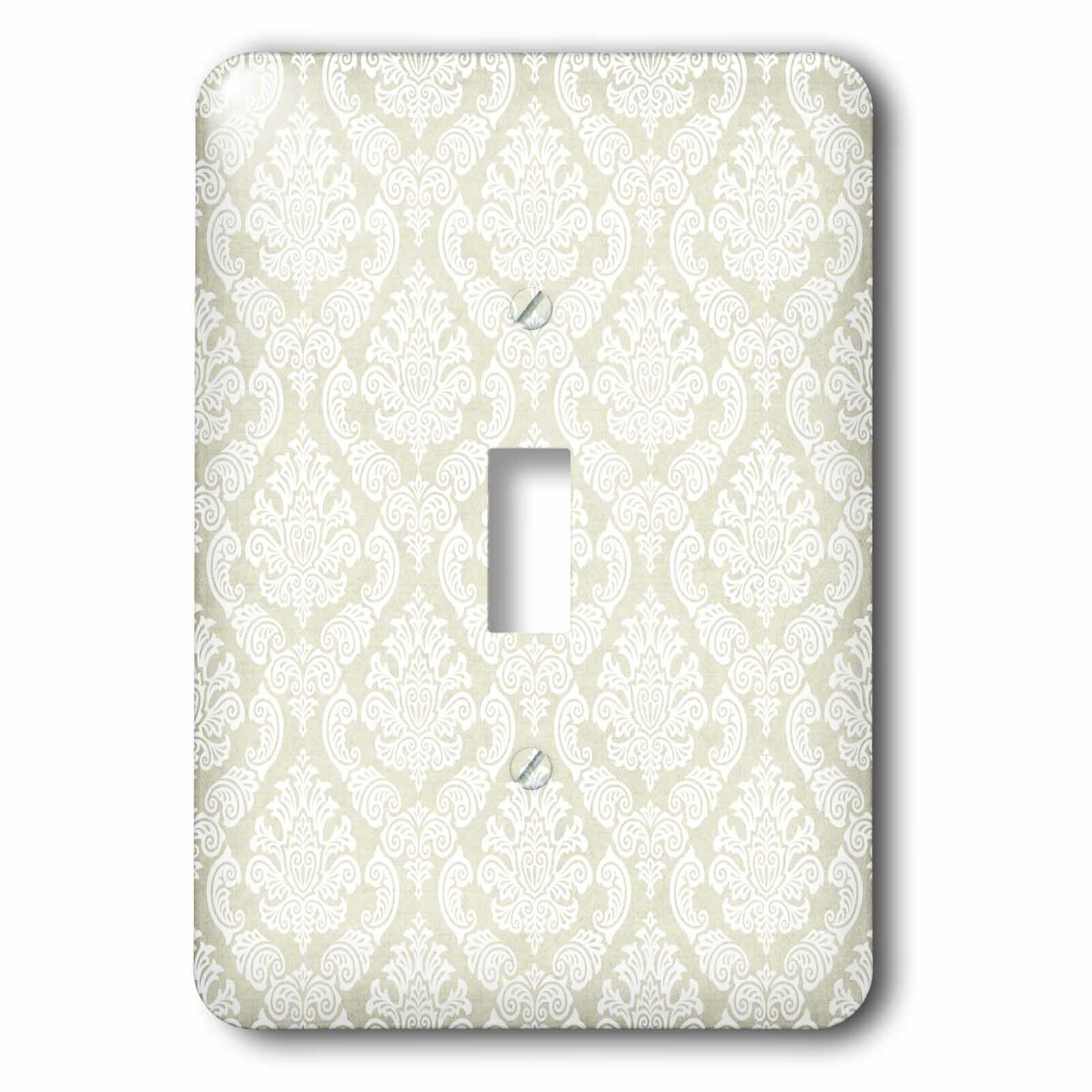 3drose On Elegant Damask 1 Gang Toggle Light Switch Wall Plate Wayfair