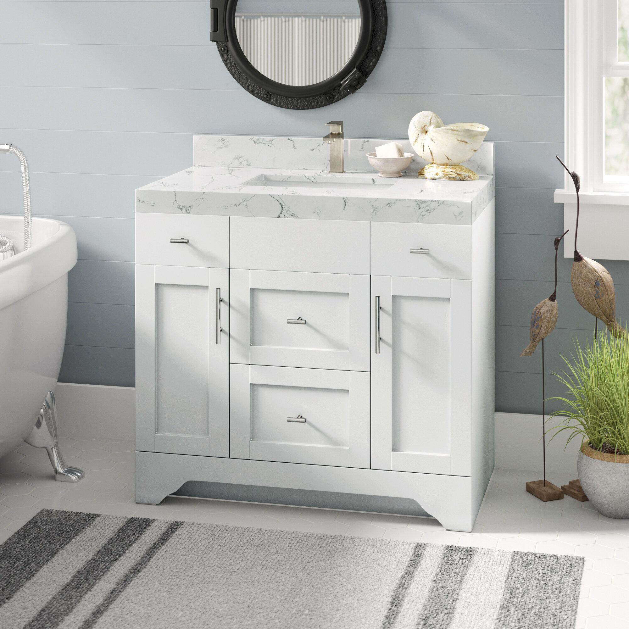 Wrought Studio Exquisite Home 36 Single Bathroom Vanity Set Reviews Wayfair