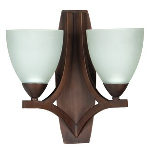 Compare prices Alvah 2-Light Wall Sconce By Winston Porter