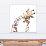 Magers Colorful Mom And Baby Giraffes Canvas Art