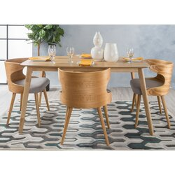 Langley Street Camille 5 Piece Wood Mid Century Dining Set | Wayfair