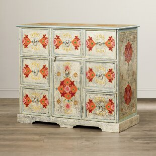 Gentil Gillis Hand Painted 8 Drawer Accent Chest