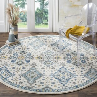 Minonk Ivory/Light Blue Area Rug by Darby Home Co