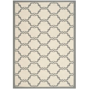 Plyler Tile Beige/Anthracite Indoor/Outdoor Area Rug