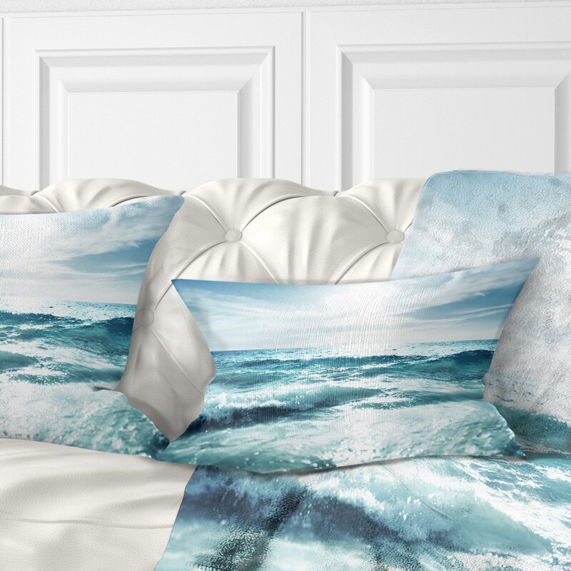 East Urban Home Seychelles Beach At Sunset Seascape Lumbar Pillow Wayfair