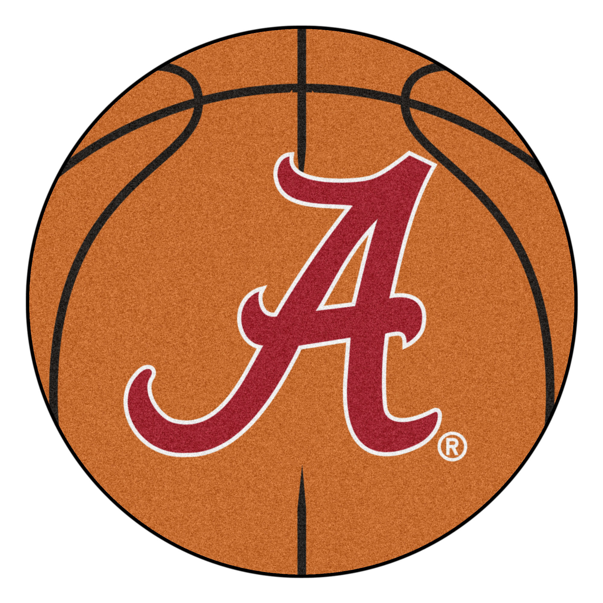 Fanmats Ncaa University Of Alabama Basketball 27 In X 27 In Non Slip Indoor Only Mat Wayfair