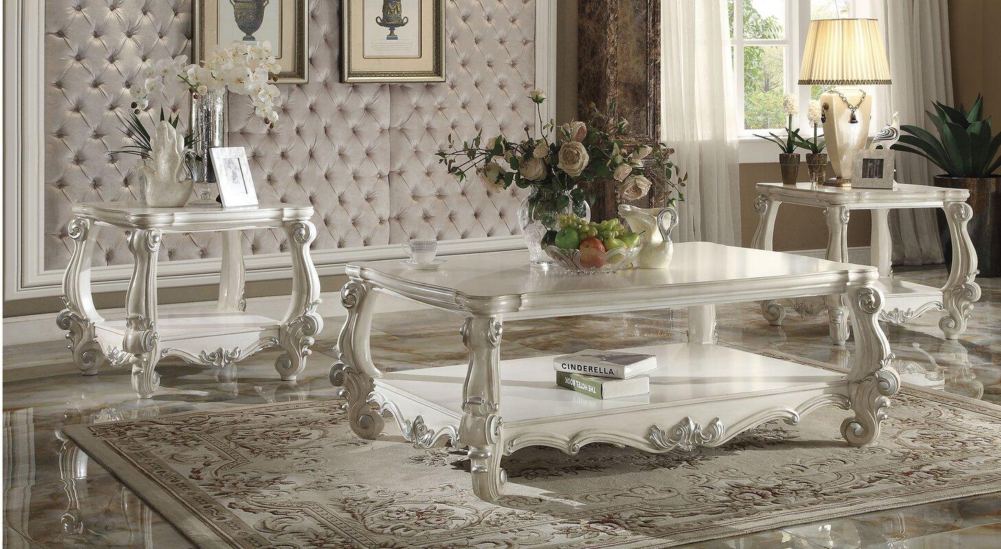Astoria Grand Maio Versailles 3 Piece Coffee Table Set