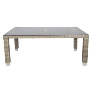 Venice Glass Dining Table by Patio Heaven