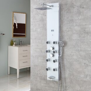 Luxier Tempered Glass Massage Tower Shower Panel System