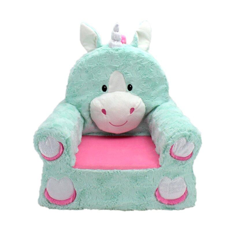 Zoomie Kids Fulton Sweet Seat Fantasy Unicorn Chair Reviews Wayfair
