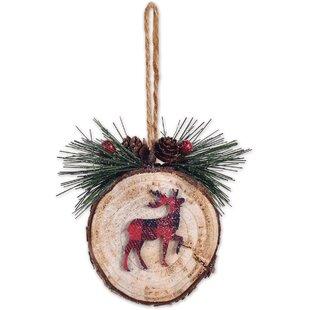 Plaid Deer Acrylic Ornament