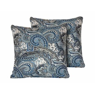Posner Paisley Square Outdoor Throw Pillow (Set of 2)