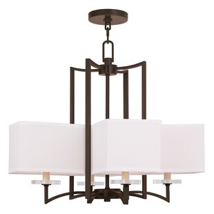 Latitude Run Amenia 4-Light Shaded Chandelier