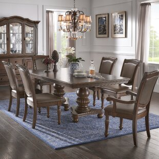 Carreiro Double Pedestal 7 Piece Extendable Dining Set DarHome Co