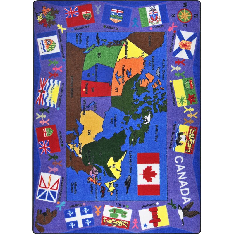 Educational Flags Of Canada Area Rug