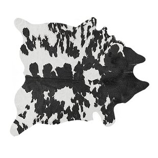 Best Faux Cowhide Black/White Area Rug By Luxe